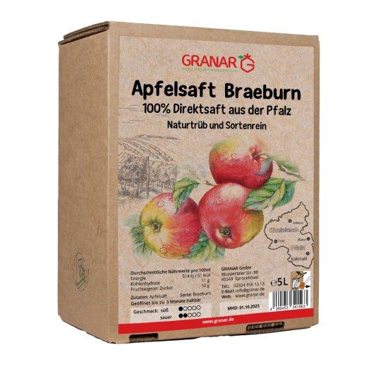 5 Liter-Box Apfel Direktsaft Braeburn aus der Pfalz