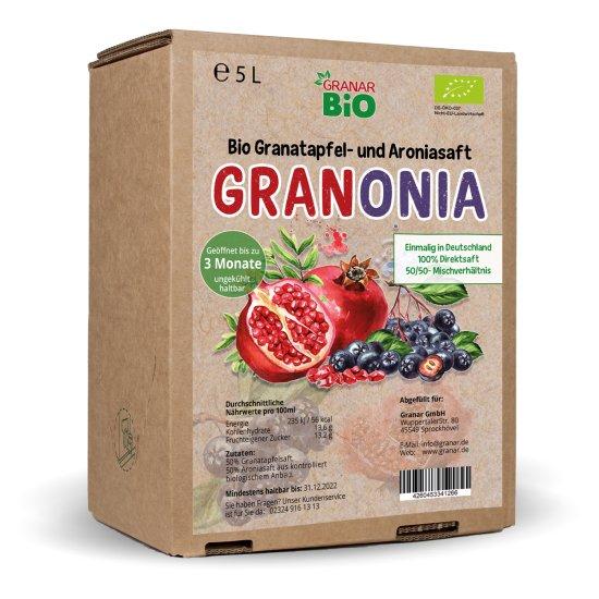 5 Liter-Box Bio Granonia - Granatapfel & Aronia Direktsaft von GranarBIO