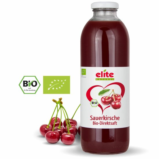 700ml Bio Sauerkirsche Direktsaft von Elite Naturel