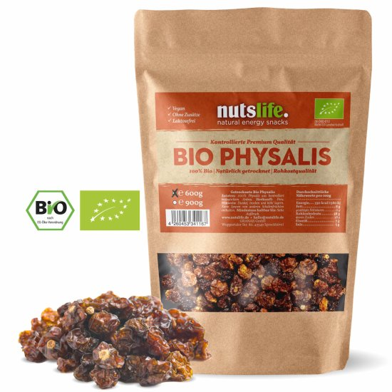 600g Bio Physalis, getrocknet, von Nutslife