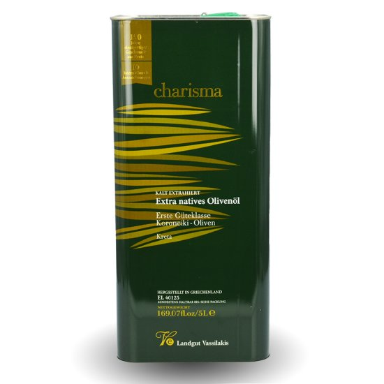5 L Premium Olivenöl Extra Nativ von Charisma