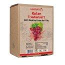 3 Liter-Box roter Traubensaft aus der Pfalz