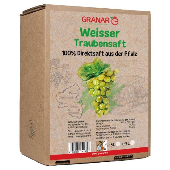 5 Liter-Box weißer Traubensaft aus der Pfalz